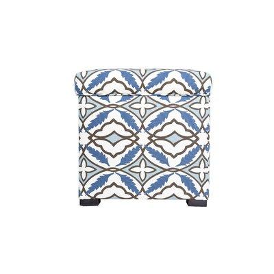 Eden Upholstered Storage Ottoman Upholstery: Blue