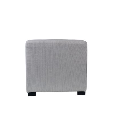 Woodside 4 Button Tufted Ottoman Upholstery: Silver Gray