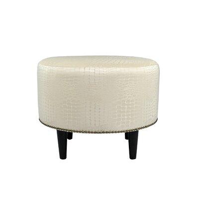 Tillie Upholstered Ottoman Upholstery: Cream