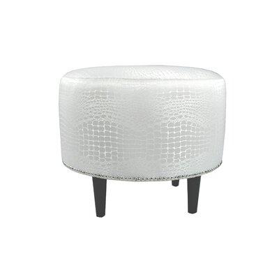 Tillie Ottoman Upholstery: Silver