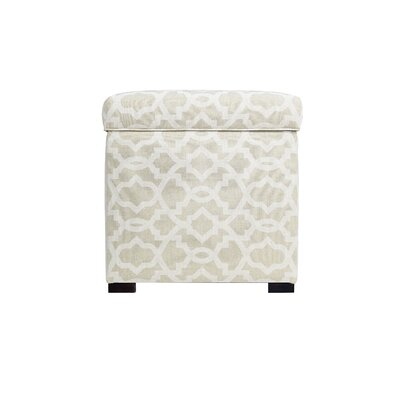 Sheffield Mini Sole Secret Storage Ottoman Upholstery Color: Cloud