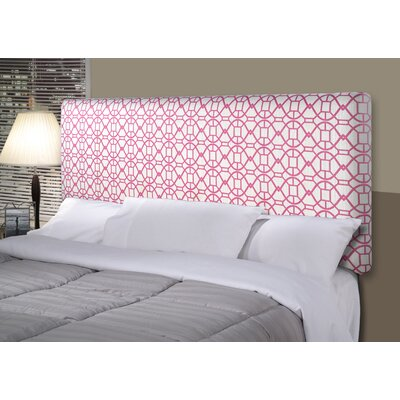 Noah Alice Upholstered Panel Headboard Size: California King, Upholstery: Blush