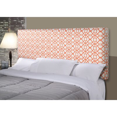 Noah Alice Upholstered Panel Headboard Size: King, Upholstery: Sunset Orange