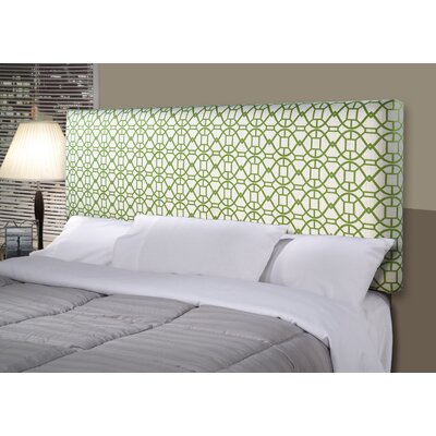 Noah Alice Upholstered Panel Headboard Size: California King, Upholstery: Green
