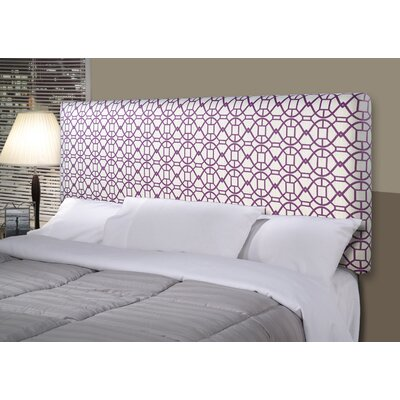 Noah Alice Upholstered Panel Headboard Size: California King, Upholstery: Purple