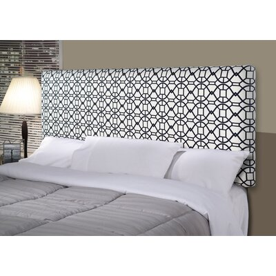 Noah Alice Upholstered Panel Headboard Size: California King, Upholstery: Black