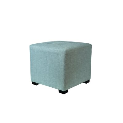 4 Button Tufted Ottoman Upholstery: Sea Mist Green