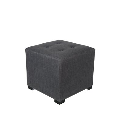 4 Button Tufted Ottoman Upholstery: Gray / Red Tint