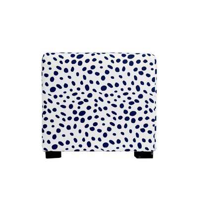 Togo 4 Button Tufted Ottoman Upholstery: Blue