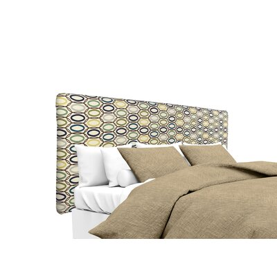 CollVera Upholstered Panel Headboard Size: Queen, Upholstery: Cobalt
