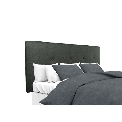 Allure Upholstered Panel Headboard Size: Full, Upholstery: Charcoal
