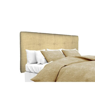 Allure Upholstered Panel Headboard Size: Twin, Upholstery: Pebble
