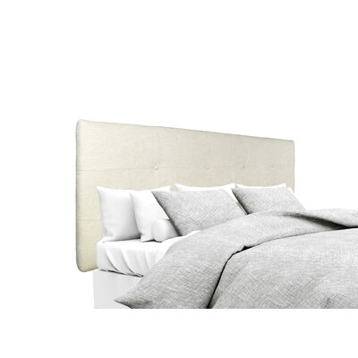 Atlas Upholstered Panel Headboard Size: King, Upholstery: Bone