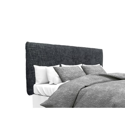 Atlas Upholstered Panel Headboard Size: King, Upholstery: Midnight