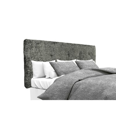 Atlas Upholstered Panel Headboard Size: Twin, Upholstery: Steel