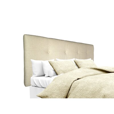 Belfast Upholstered Panel Headboard Size: King, Upholstery: Linen