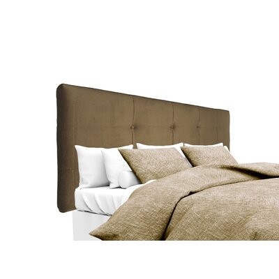 Ennis Upholstered Panel Headboard Size: Twin, Upholstery: Coffee