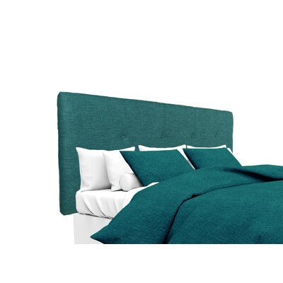 Key Largo Upholstered Panel Headboard Size: Twin, Upholstery: Zenith Teal