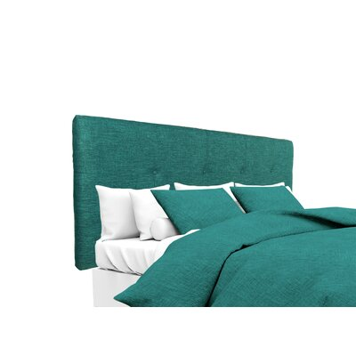 Lucky Upholstered Panel Headboard Size: Twin, Upholstery: Turquoise