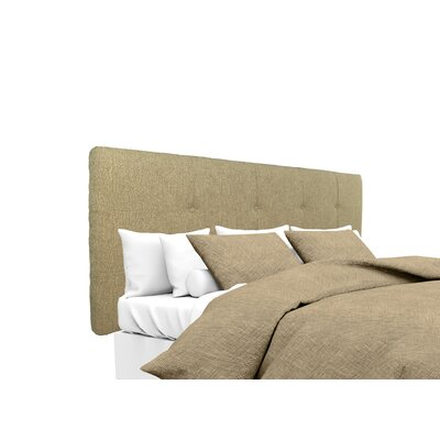 Olivia Upholstered Panel Headboard Size: Twin, Upholstery: Doe