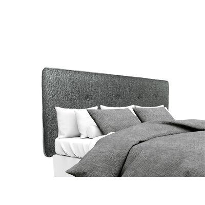 Olivia Upholstered Panel Headboard Size: King, Upholstery: Charcoal