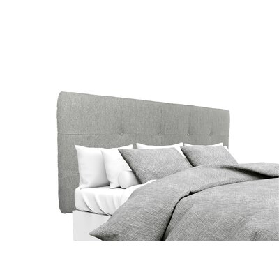 Olivia Upholstered Panel Headboard Size: King, Upholstery: Smoke