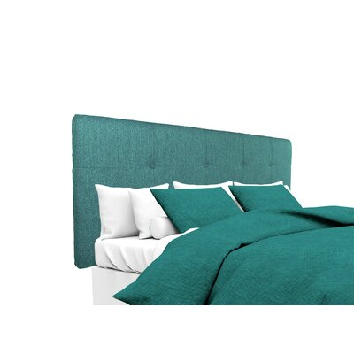 Olivia Upholstered Panel Headboard Size: King, Upholstery: Teal