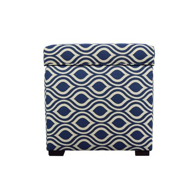 Nicole Square Shoe Storage Ottoman Upholstery: Dark Blue/Gray