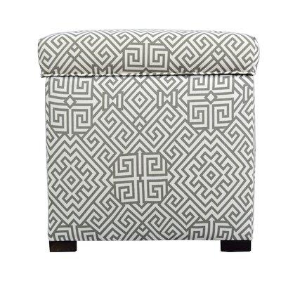 Santorini Storage Ottoman Upholstery: Gray/White