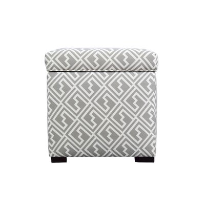 Shakes Square Shoe Storage Ottoman Upholstery: Gray/White