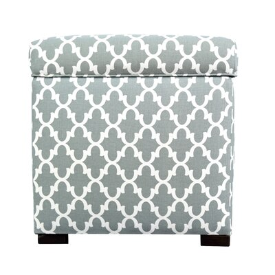Fulton Square Shoe Storage Ottoman Upholstery: Blue/Gray