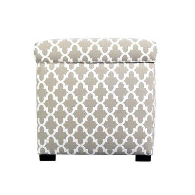 Fulton Storage Ottoman Upholstery: Beige/Tan