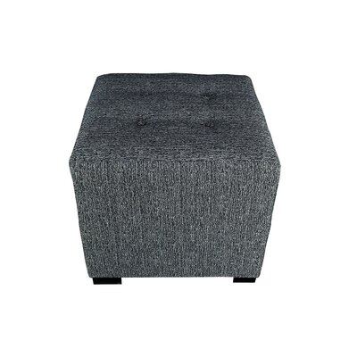 Olivia Cube Ottoman Upholstery: Charcoal