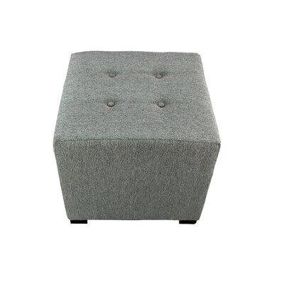 Olivia Cube Ottoman Upholstery: Smoke