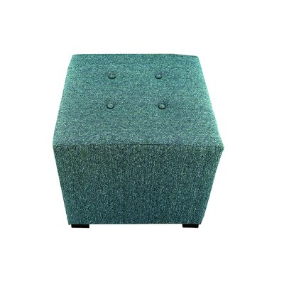 Olivia Cube Ottoman Upholstery: Teal
