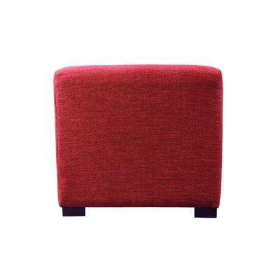 Key Largo Cube Ottoman Upholstery: Ruby