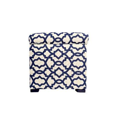 Sheffield Upholstered Storage Ottoman Upholstery: Indigo Navy