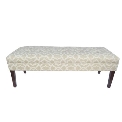 Kaya Sheffield Upholstered Bedroom Bench Upholstery Color: Cloud