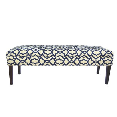 Kaya Sheffield Upholstered Bedroom Bench Upholstery Color: Indigo