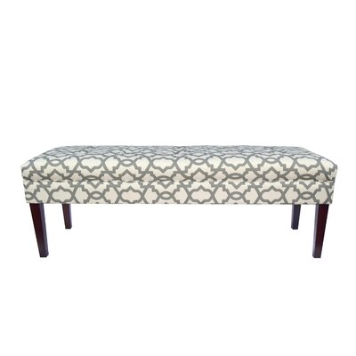 Kaya Sheffield Upholstered Bedroom Bench Upholstery Color: Gray