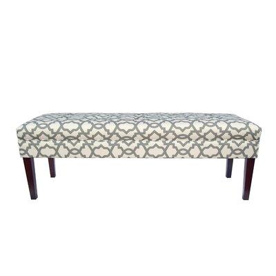 Kaya Sheffield Upholstered Bedroom Bench Upholstery Color: Gray