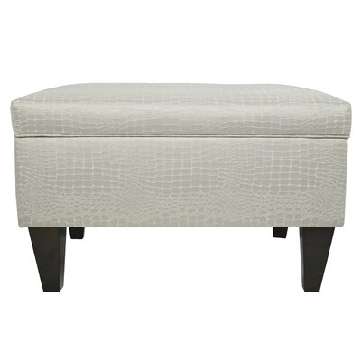 Brooklyn Upholstered Tillie Square Legged Box Storage Ottoman Upholstery: Sterling