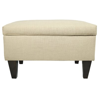 Brooklyn Upholstered Square Legged Box Storage Ottoman Upholstery: Beige