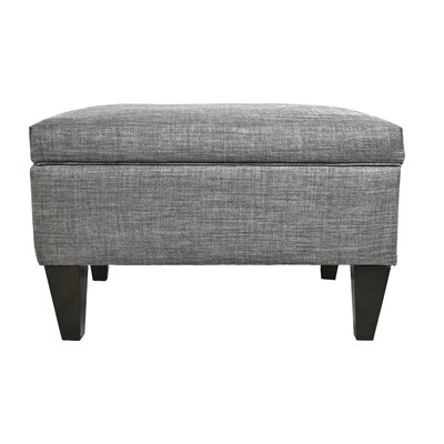 Brooklyn Upholstered Square Legged Box Storage Ottoman Upholstery: Grey