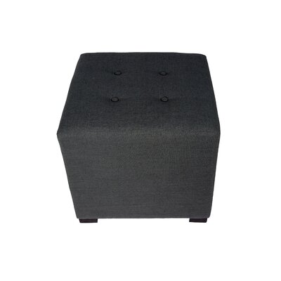 Merton Allure Cube Ottoman Upholstery: Charcoal