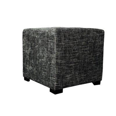 Merton Atlas Upholstered Cube Ottoman Upholstery: Steel