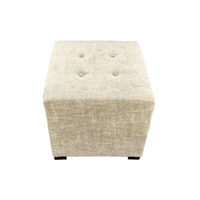 Merton Atlas Cube Ottoman Upholstery: Sterling