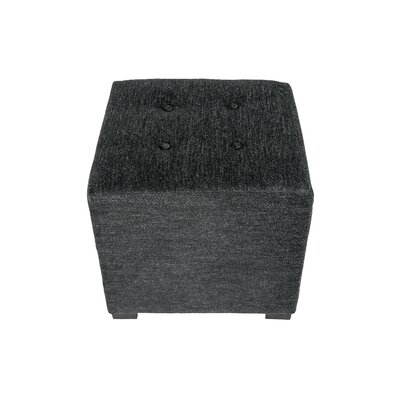 Merton Belfast Upholstered Cube Ottoman Upholstery: Charcoal