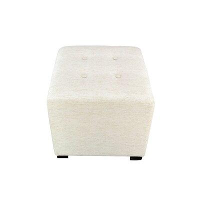 Merton Belfast Upholstered Cube Ottoman Upholstery: Ivory