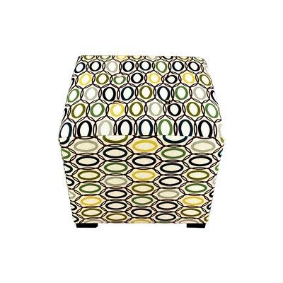 Merton Coll-Vera Upholstered Cube Ottoman Upholstery: Cobalt